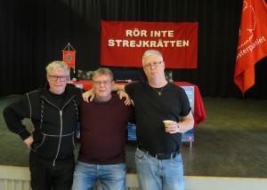 Försvara strejkrätten mötet 180411 Eskil Anton o Tommy